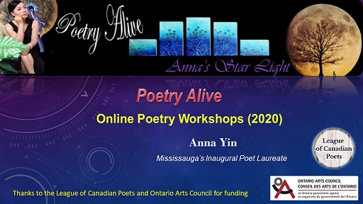 Anna Yin's online poetry alive workshops for schools and Haiku workshop